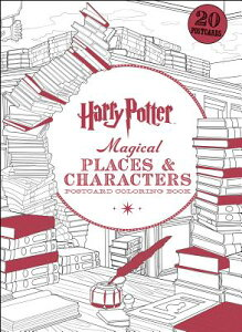 Harry Potter Magical Places & Characters Postcard Coloring Book HARRY POTTER MAGICAL PLACES & [ Scholastic ]