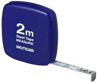 クツワ HiLiNE メジャー 超薄型 2m スチール製 ブルー MJ001BL