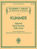 【輸入楽譜】クンマー, Friedrich August: やさしく弾ける 先生と生徒のためのチェロ二重奏曲