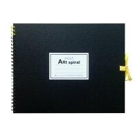 マルマン スケッチブック アートスパイラル F3 厚口画用紙 24枚 ブラック S313-05