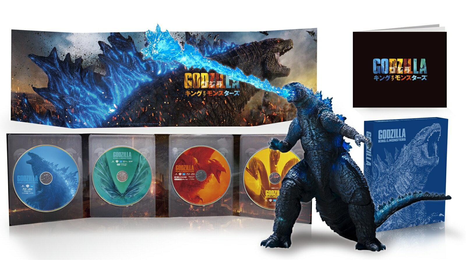 【先着特典】ゴジラ キング・オブ・モンスターズ 完全数量限定生産4枚組 S.H.MonsterArts GODZILLA[2019] Poster Color Ver. 同梱(A4クリアファイル付き)【4K ULTRA HD】