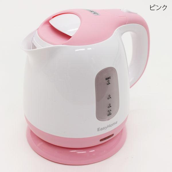 コンパクト電気ケトル ピンク