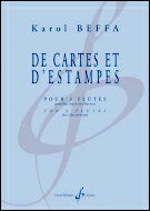 【輸入楽譜】ベッファ, Karol: フルート三重奏のための「De Cartes et d'Estampes」画像