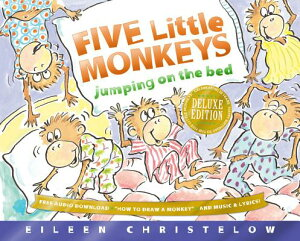 Five Little Monkeys Jumping on the Bed 25th Anniversary Edition 5 LITTLE MONKEYS JUMPING ON TH (Five Little Monkeys Story) [ Eileen Christelow ]