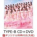 【楽天ブックス限定先着特典】シャーベットピンク (TYPE-B CD+DVD) (ジャケットサイズステッカー(Type-Aジャケット絵柄)) [ NGT48 ]