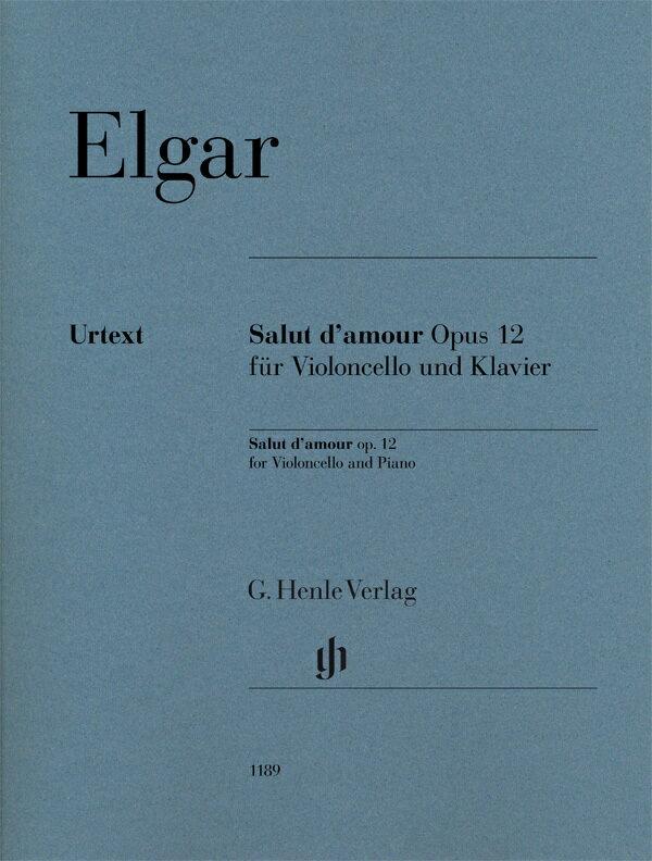 【輸入楽譜】エルガー, Edward: 愛の挨拶 Op.12/原典版/Koenen運指/Kanngiesser チェロ運指/Marshall-Luck編画像