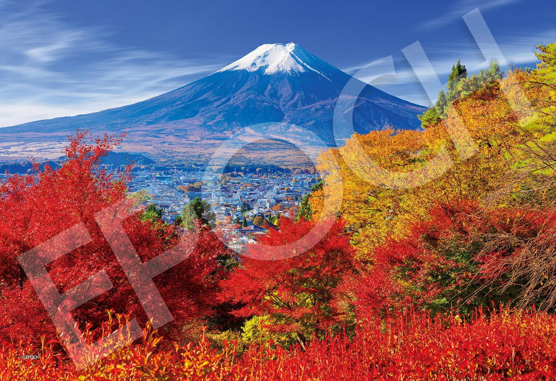 ジグソーパズル 300ピース 紅葉と富士山 【完成サイズ26x38cm】