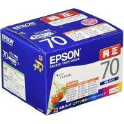 【2箱セット】 エプソン IC6CL70 カラリオプリンター用 インクカートリッジ(6色パック)