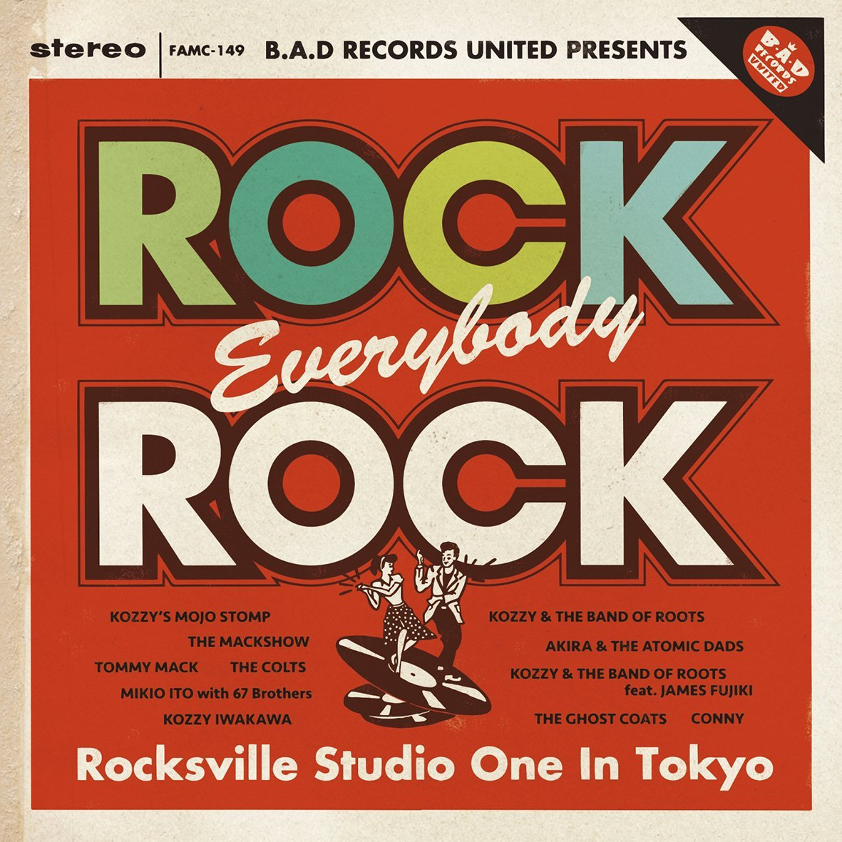 B.A.D RECORDS UNITED PRESENTS 「Rock,Everybody,Rock-Rocksville Studio One In Tokyo-」画像