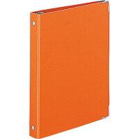 コクヨ バインダー ノート カラーパレット A5 20穴 最大100枚 オレンジ ルー105-6