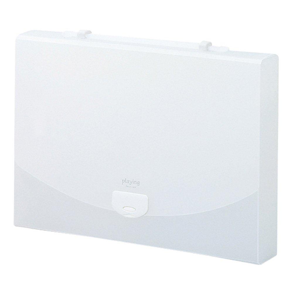 セキセイ ドキュメントファイル ワイド プレイング 2ウェイケース A4 ホワイト AP-956画像