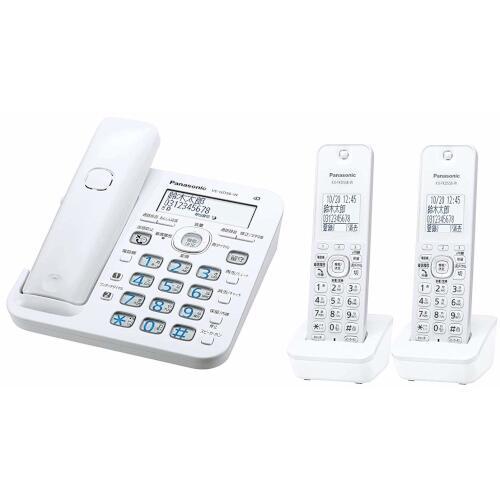 Panasonic コードレス電話機(子機2台付き)(ホワイト) VE-GD56DW-W