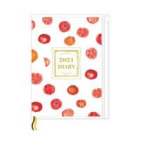 オリエンタルベリー 手帳 2021年 マンスリー+家計簿 A5 vegenery トマト (2021年1月始まり)