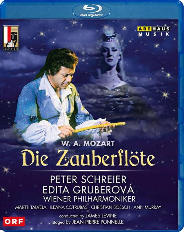 【輸入盤】『魔笛』全曲 ポネル演出、ジェイムズ・レヴァイン&ウィーン・フィル、ペーター・シュライアー、エディタ・グルベローヴァ、他(1982