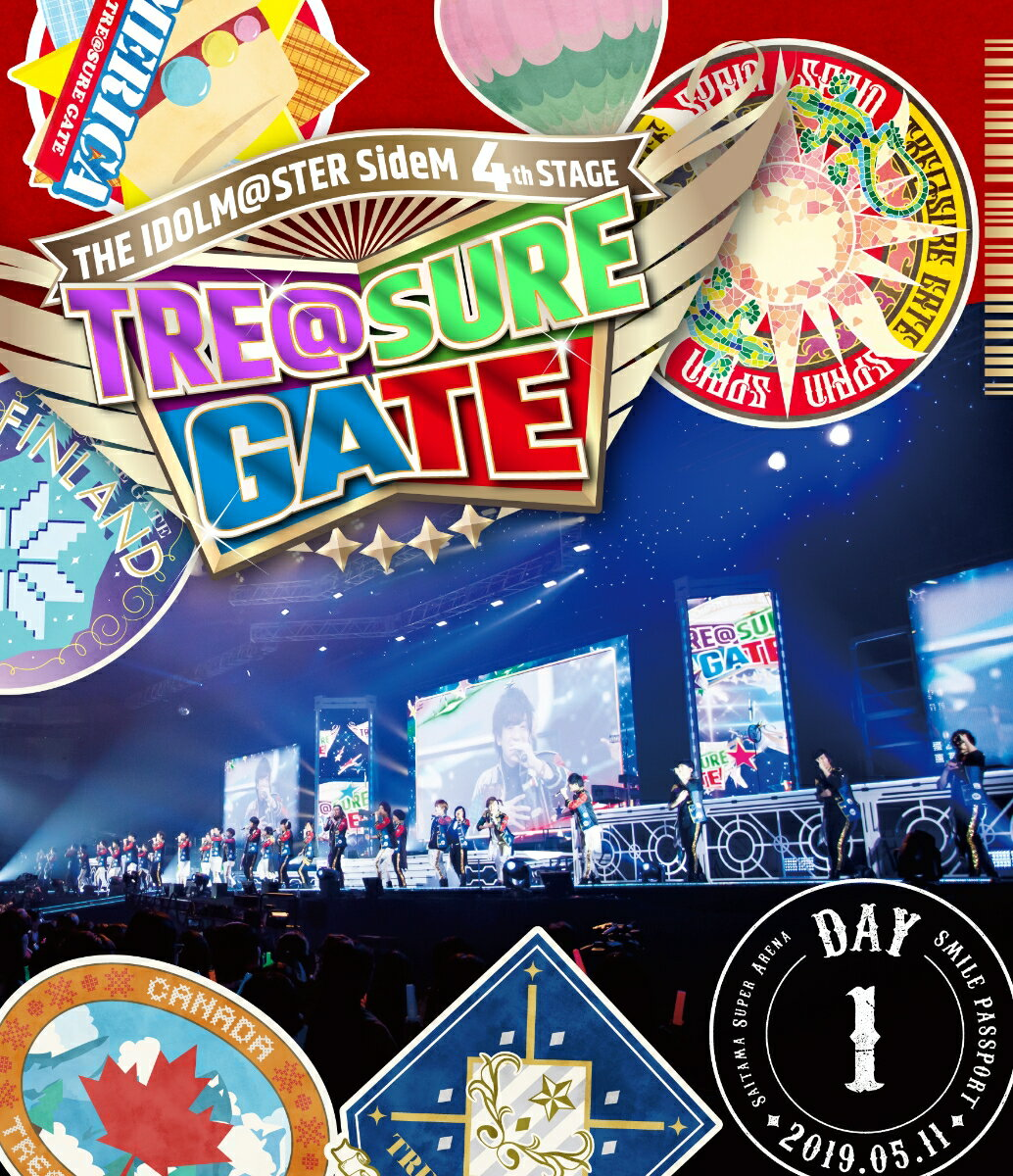 THE IDOLM@STER SideM 4th STAGE 〜TRE@SURE GATE〜 LIVE Blu-ray SMILE PASSPORT(DAY1通常版)【Blu-ray】画像