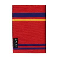 キュービックス ブックカバー ストライプ 文庫サイズ レッド 114022-05