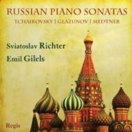 【輸入盤】Russian Piano Sonatas-glazunov, Medtner, Tchaikovsky: S.richter Gilels画像
