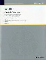 【輸入楽譜】ウェーバー, Carl Maria von: 協奏的大四重奏曲 変ロ長調(Vl,Va,Vc,P)/Bandur編