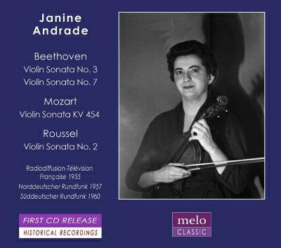 【輸入盤】ヴァイオリン・ソナタ集〜ベートーヴェン、モーツァルト、ルーセル ジャニーヌ・アンドラード(1955〜60)画像