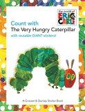 指望餓餓CATERPILLA(P)的[書籍][Count with the Very Hungry Caterpillar [With Giant Reusable Stickers] [ Eric Carle ]]