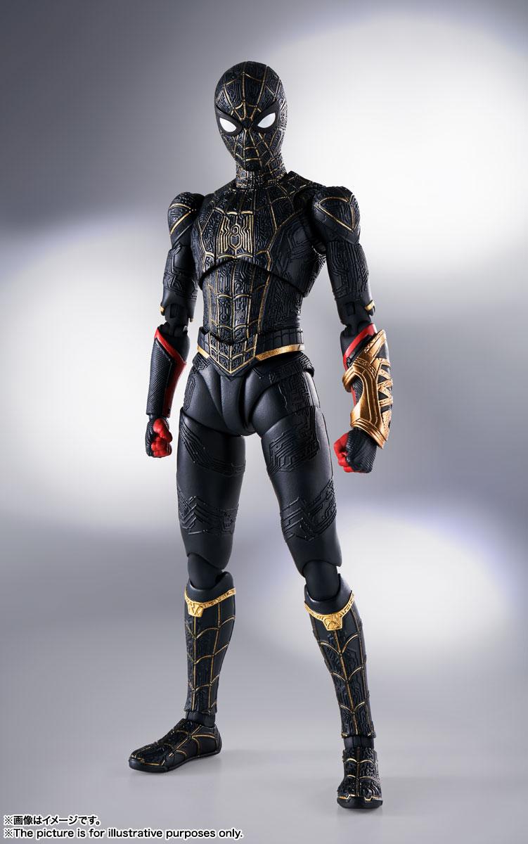 【特典】S.H.Figuarts スパイダーマン[ブラック&ゴールドスーツ](スパイダーマン:ノー・ウェイ・ホーム)(【購入者先着特典】S.H.Figuarts スパイダーマン用 エフェクト&ステージセット)