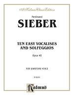 【輸入楽譜】ジーバー, Ferdinand: 10のやさしいヴォカリーズとソルフェージュ Op.48(バリトン用)