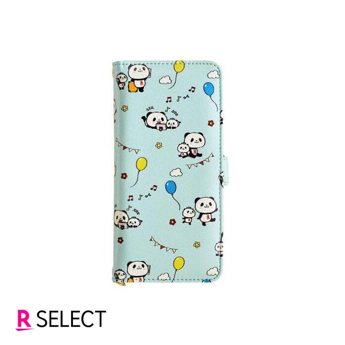 【楽天モバイル純正】OPPO Reno3 A お買いものパンダ 手帳型ケース(ライトブルー)