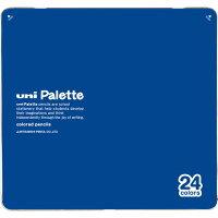 三菱鉛筆 色鉛筆 880級 ユニパレット 24色 青 K88024CPLT.33