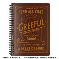 Greefulリングノート A5 7mm罫 ブラウン