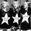 Madonna (マドンナ)のカラオケ人気曲ランキング第10位 シングル曲「Give Me All Your Luvin' feat. M.I.A. and Nicki Minaj」のジャケット写真。
