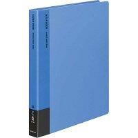 コクヨ ファイル クリアファイル 替紙式 A4縦 30穴 青 ラー730B