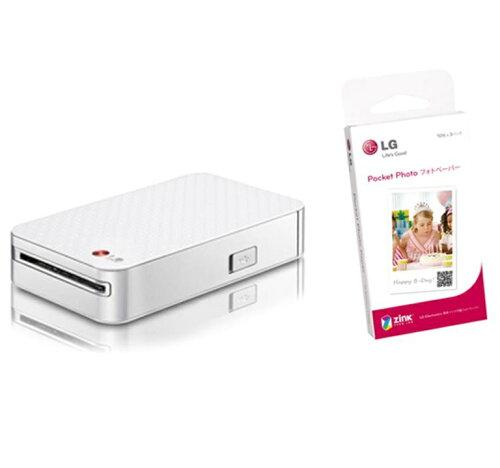 LG Electronics Japan ポケットフォト + 専用用紙 ZINKフォトペーパー