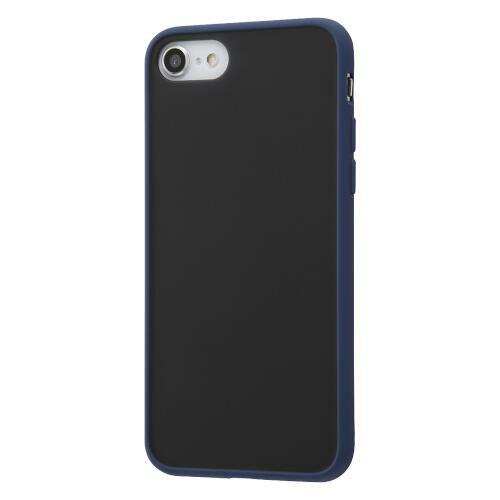 iPhone SE(第2世代)/8/7 耐衝撃マットハイブリッドケース Sarafit/ダークネイビー
