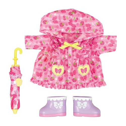メルちゃん きせかえセット ピンクのレインコートセット