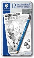 ステッドラー 鉛筆 ルモグラフ 製図用 12硬度セット 缶ケース 100 G12