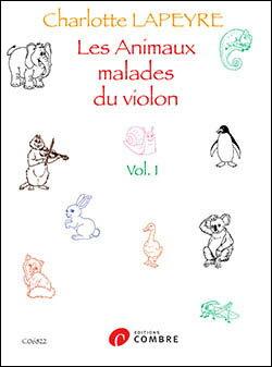 【輸入楽譜】ラピエール, Charlotte: ぶきっちょなどうぶつさんたちのバイオリン 第1巻画像