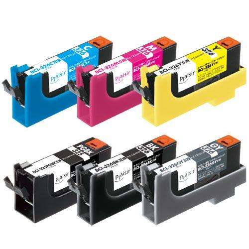 BCI-326+325/6MP互換インクカートリッジ 6色パック PLE-CB3266P