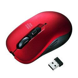 ワイヤレスブルーLEDマウス レッド MA-WBL113R