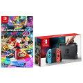 Nintendo Switch Joy-Con(L) ネオンブルー/(R) ネオンレッド + マリオカート8 デラックスの画像