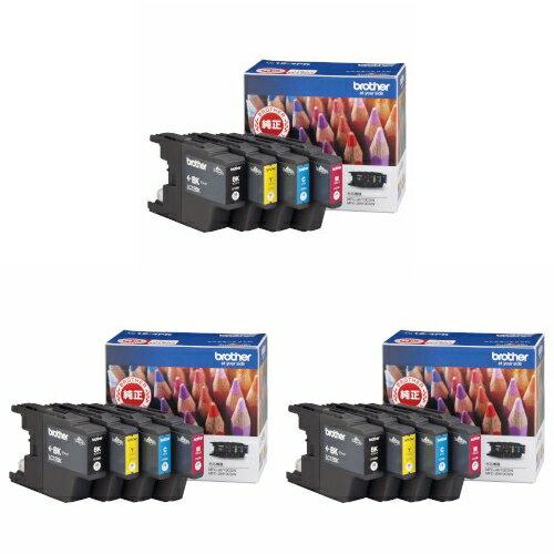 【3箱セット】 ブラザー インクカートリッジ 4色(BK・C・M・Y)パック LC12-4PK