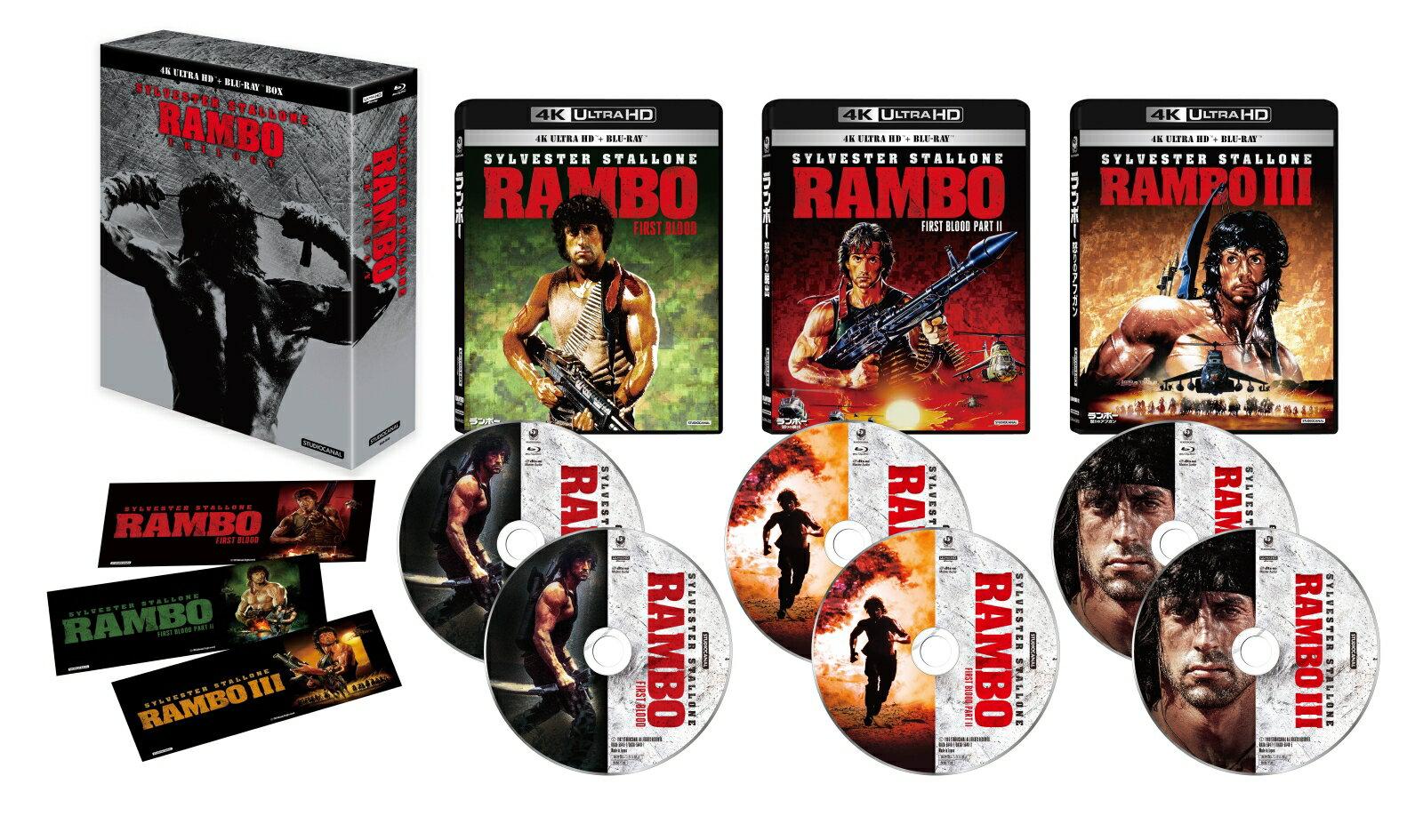 ランボー・トリロジー 4K Ultra HD Blu-ray BOX(6枚組)【4K ULTRA HD】
