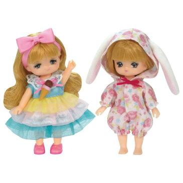 リカちゃんお洋服 LW-21 ミキちゃんマキちゃんドレスセット うさちゃんパジャマとアイスクリームドレス