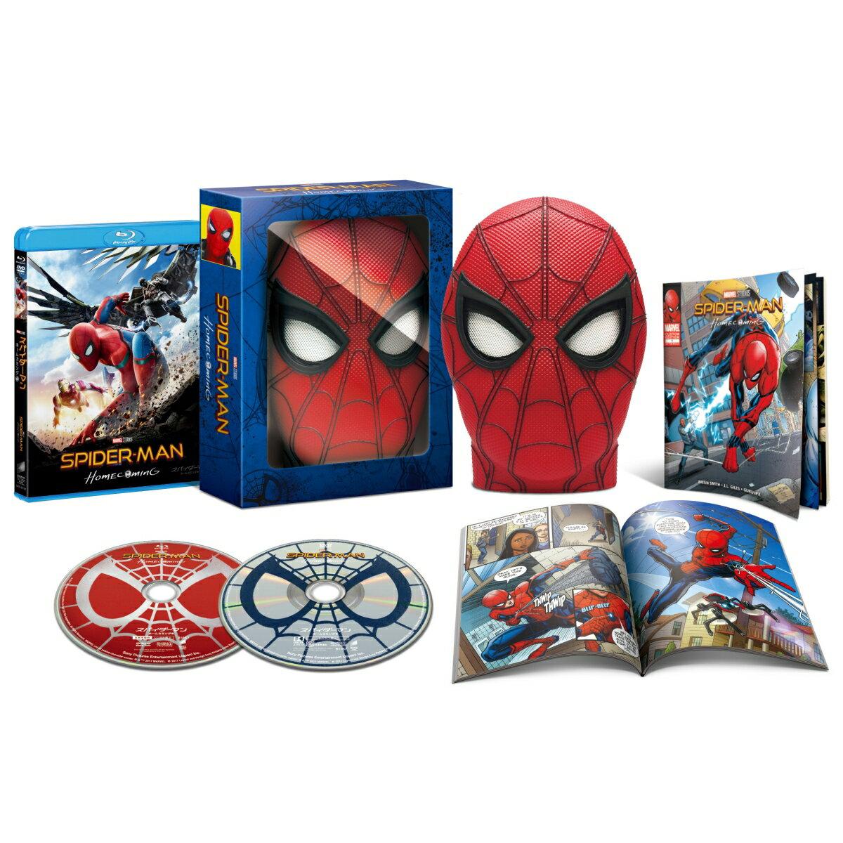 【楽天ブックス限定】スパイダーマン:ホームカミング ブルーレイ & DVDセット<br />スパイダーマンの目が動く!マスク型ケース仕様【初回生産限定】