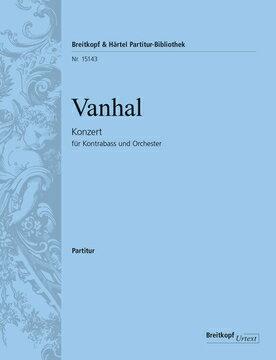 【輸入楽譜】ヴァンハル, Johann Baptist: コントラバス協奏曲/原典版/Glockler編: 指揮者用大型スコア画像