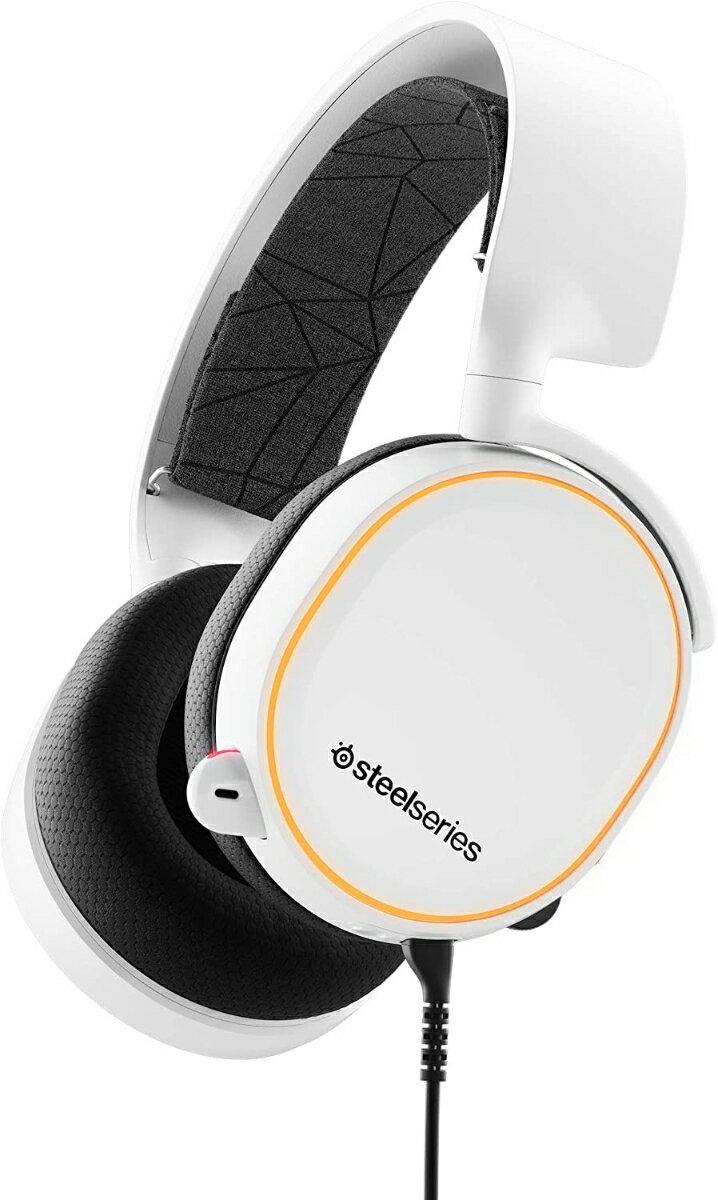 ゲーミングヘッドセット SteelSeries Arctis 5 White
