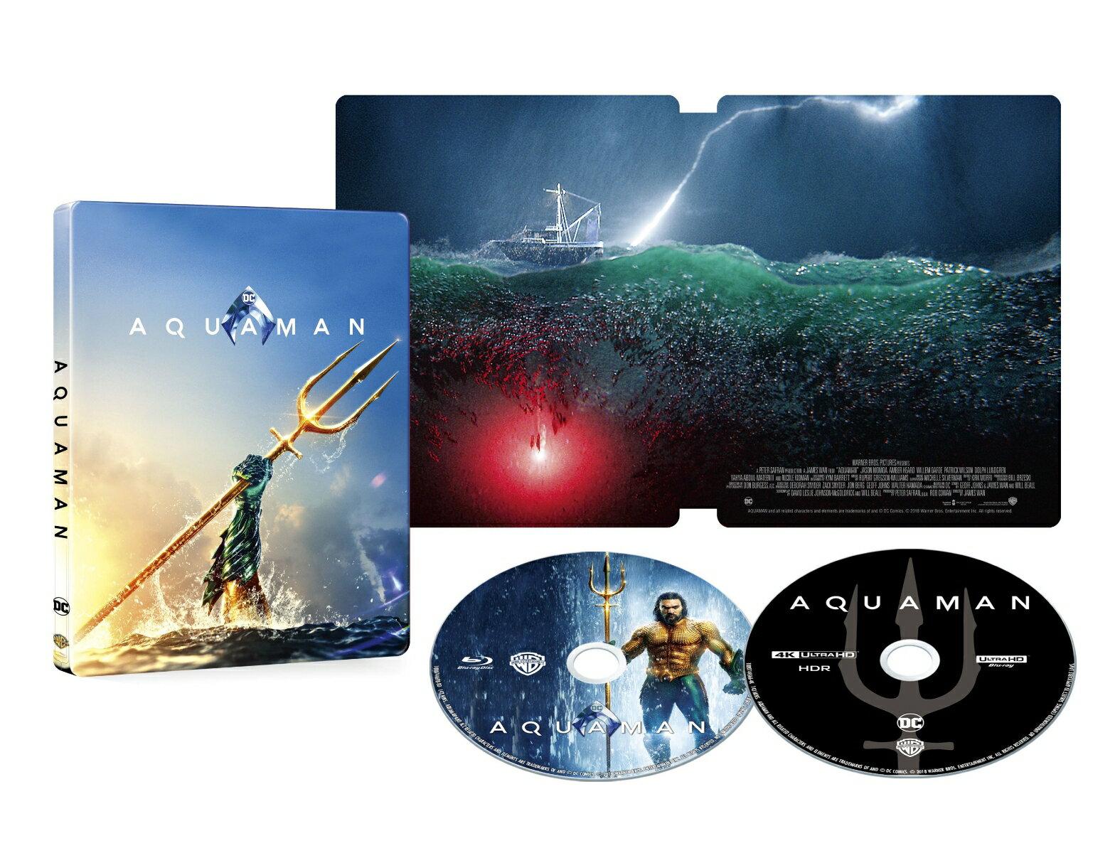アクアマン スチールブック仕様 <4K ULTRA HD&ブルーレイセット>(2,000セット限定/2枚組)(数量限定生産)【4K ULTRA HD】