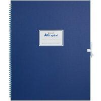 マルマン スケッチブック アートスパイラル F6 厚口画用紙 24枚 ブルー S316-02