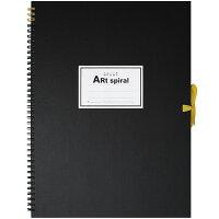マルマン スケッチブック アートスパイラル F6 厚口画用紙 24枚 ブラック S316-05