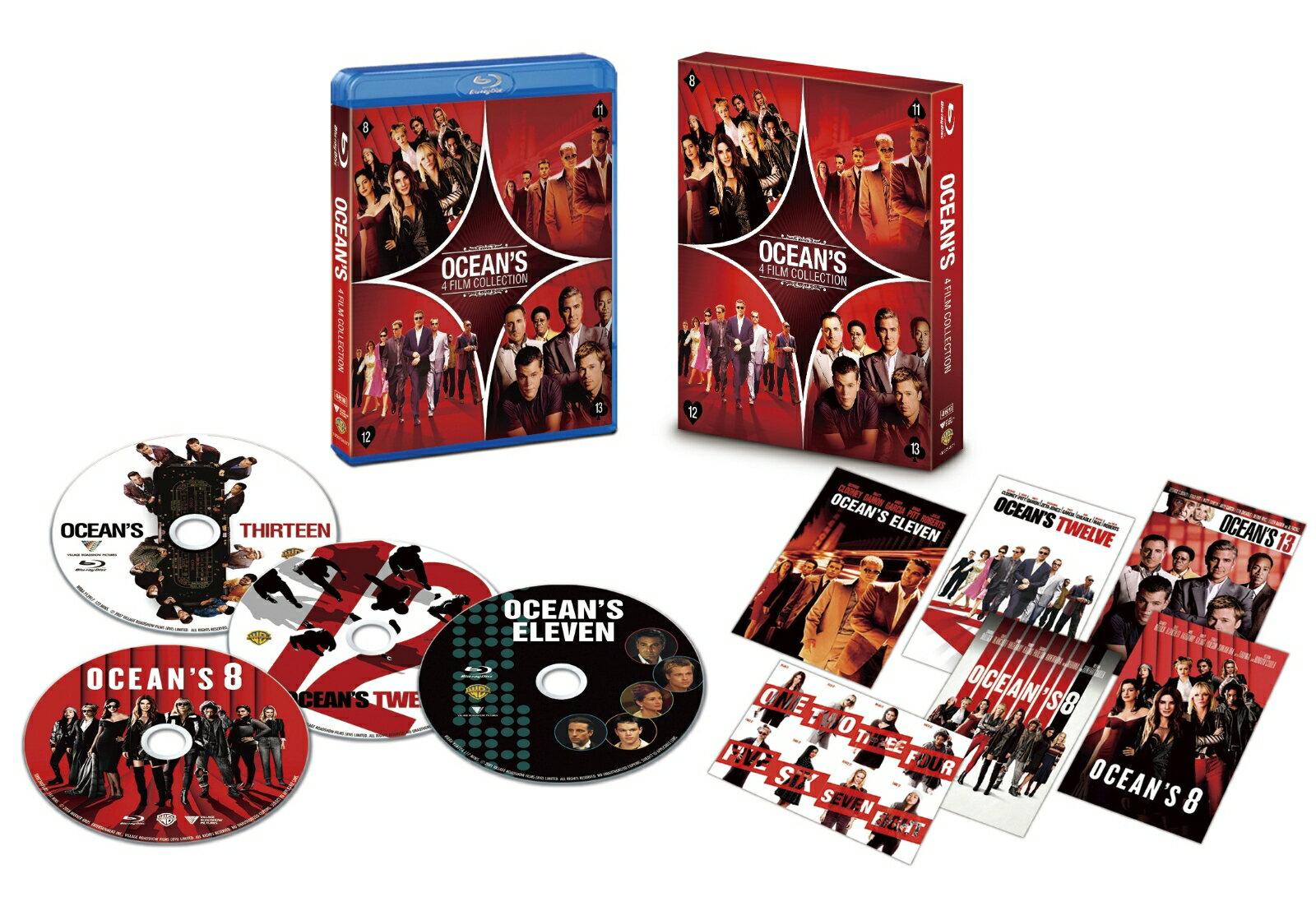 オーシャンズ 4フィルム・コレクション ブルーレイ(4枚組/ポストカード付)(初回仕様)【Blu-ray】