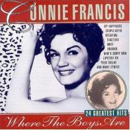 【輸入盤】Where The Boys Are 24 Greatesthits [ Connie Francis ]